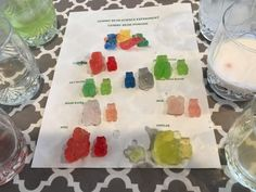 Check out our FUN Gummy Bear Osmosis experiment! This is a simple and fun experi… Check out our FUN Gummy Bear Osmosis experiment! This is a simple and fun experiment for children 12 and under (and their moms). A quick safety note… Gummy Bear Science Project, Gummy Bear Experiment, Science Project Board, Science Fair Projects Boards, Science Activities For Kids, Projects For Kids, Gummy Bear Osmosis, Science Teacher Gifts, Science Experiments Kids