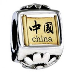 Travel Culture China Photo Flower Charms  Fit pandora,trollbeads,chamilia,biagi,soufeel and any customized bracelet/necklaces. #Jewelry #Fashion #Silver# handcraft #DIY #Accessory