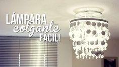 como hacer lamparas colgantes faciles - YouTube