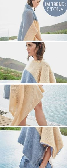 Strickanleitung für einen Poncho, Stola / diy knitting tutorial: knit your own poncho via DaWanda.com