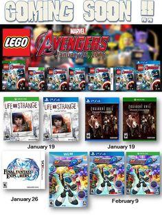 Mucho nuevo videojuegos salen este año.. Visita nuestra página Web www.latamgames.com.