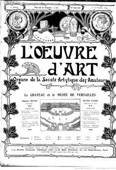 L'Œuvre d'art : revue bi-mensuelle illustrée / directeur Léon Castagnet…