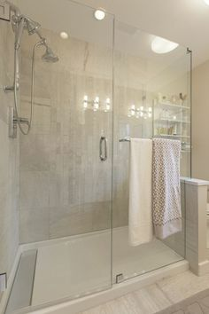 We're about to redo our bathroom, and I can't get enough of this gorgeous shower design! /BR | Jillian Harris