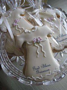 Christening gown cookie decorated christening amp baptism cookies more