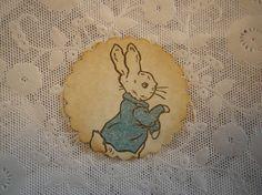 Peter Rabbit Baby Boy Shower Sticker / Thank You by FyreflyHollow