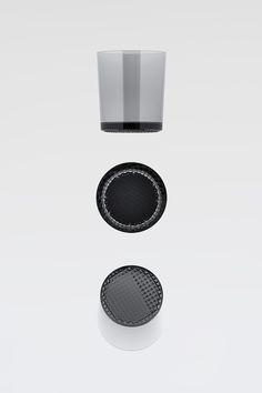 Details we like / Exploded view / Plastic / Glas / Geometric / at Design Binge