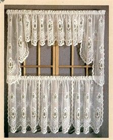 Sterling Lace  Kitchen Curtains with Tier, Swags, & Valances