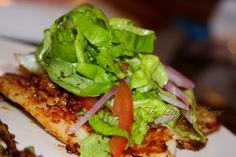 Pan grilled Tilapia with roasted and crushed pumpkin seeds