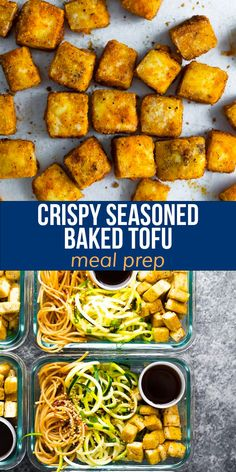 This baked tofu recipe is has a delicious seasoning and gets golden and crispy as it bakes up. Delicious as a snack or entree, and so easy to prepare! Vegan & gluten-free. #sweetpeasandsaffron #mealprep #tofu Tofu Recipes, Dairy Free Recipes, Healthy Recipes, Baked Tofu, Vegan Meal Prep, Vegan Vegetarian, Vegan Gluten Free, Entrees, Quinoa Breakfast