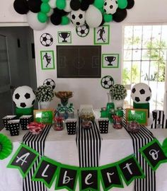Ideas For Sport Party Theme Ideas Soccer Birthday Parties, Football Birthday, Sports Birthday, Soccer Party, Sports Party, Birthday Party Themes, Soccer Baby Showers, Sofia Party, Party Time
