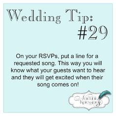 If you need some help building your wedding playlist, enlist the help of your guests. ×✧abbeygoldfinch✧×