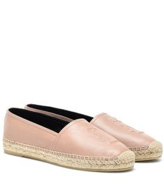 A summer footwear essential receives a glamorous upgrade with the Monogram espadrilles from Saint Laurent. Made in Spain from beige lambskin leather with a braided jute midsole and rubber outsole, the classic design is . Castaner Espadrilles, Espadrilles Outfit, Leather Espadrilles, Leather Belts, Lambskin Leather, Tory Burch, Baskets, Holiday Shoes, Saint Laurent Shoes
