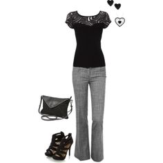 """Work Outfit"" by lindalou78 on Polyvore"