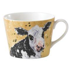 Country Kitchen Cow Breakfast Cup. Nämäkin on ilmeisesti poistumassa ja hinta on tällä hetkellä 4 puntaa per muki.
