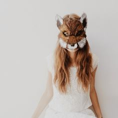 white blouse animal mask