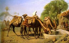 Camels at the Trough, 1857 by Jean-Léon Gérôme