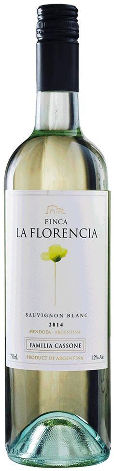 """""""Finca La Florencia"""" Sauvignon Blanc 2014 - Bodega Familia Cassone, Luján de Cuyo, Mendoza---------------------------------- Terroir: Vista Flores (Tunuyán)---------------Sin paso por madera"""