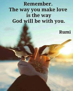 Remember, the way you make love is the way God will be with you. - Rumi Rumi Poem, Rumi Quotes, World Languages, Sufi, No Way, Lovers Art, Mystic, Religion, The Past