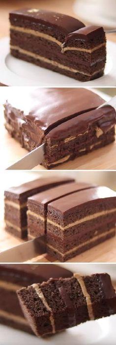 Sweet Recipes, Cake Recipes, Dessert Recipes, Brownie Recipes, Chocolate Coffee, Chocolate Cake, Fondant Cakes, Cupcake Cakes, Kolaci I Torte