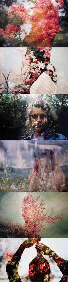 friend of Kathryn Davi, artist Pakayla Rae Biehn's double exposure oil series