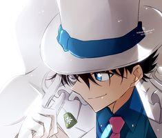 Kaitou KID // DCMK // why can't he be my older brother. It would be so cool to have him as family. Magic Kaito, Manga Anime, Anime Art, Detektif Conan, Magic For Kids, Kaito Kuroba, Detective Conan Wallpapers, Nagisa Shiota, Kaito Kid