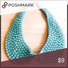 Sea Foam Green Collar Full Bead Clasper Perfect to jazz up your work outfit or even a night out on the town  Jewelry Necklaces