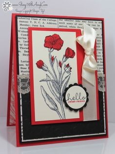 Stampin� Up! Butterfly Basics in Black and Red