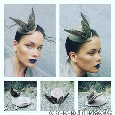 Birds wings #fascinator #cocktailhat. #madebyme