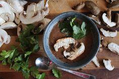 Recipe: Raw Creamy Mushroom Soup with Avocado + Miso via @one green planet // #avocado #soup #recipe