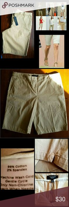 """Talbots Khaki Shorts NWT. Khaki color. Functional front & back pockets.   Measurements  Waist 28.5"""" - 29.5""""  Hips 38.5"""" - 39.5""""  Inseam length 10""""  Top to bottom length 19""""   Get an additional 30% off when purchasing 3 or more items using the bundle feature. Always willing to negotiate. Talbots Shorts"""