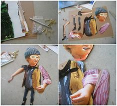 collage moveable figure