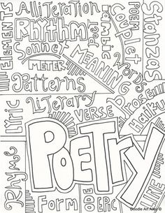 Free covers for writer's notebooks including this one for poetry! (Color the pages or print on colored paper to divide notebook sections - content-area covers, too) Free!