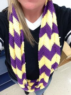 Chevron Crochet Infinity Scarf by StaceyDAcrochetQUEEN on Etsy, $40.00