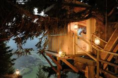 Wedding Lodge – a romantic treehouse with stunning bird's-eye views of the surrounding natural park Exterior Design, Interior And Exterior, Treehouse Living, Village Hotel, Alpine Style, Plitvice Lakes National Park, Wooden Cabins, In The Tree, Culture Travel