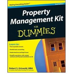Thinking about becoming a landlord?  Property Management Kit For Dummies, 2 nd  Edition  gives you proven strategies for establishing and maintaining rental properties, be they single family or multi-resident.