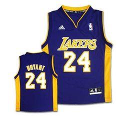 f3fe234936a NBA Los Angeles Lakers Youth Kobe Bryant Road Replica Jersey (Purple