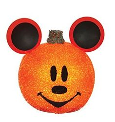 Mickey Mouse Sparkling Pumpkin. What a cutie! Disney Halloween decor must have. #affiliate