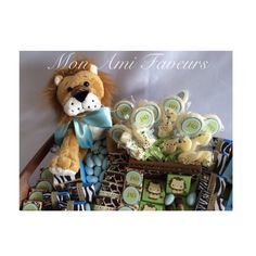 Baby Safari keepsake favor tray, just the thing for your shower or hospital arrangement.