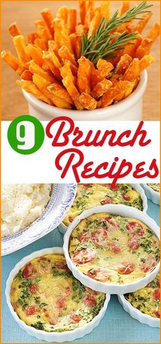 9 Brunch Recipes for any occasions.