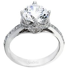 Pave set diamonds 18kt white gold #engagementrings