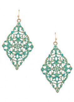 Carsi Cutout Dangle Earrings Mint