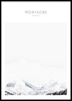 Montagne, poster i gruppen Posters och prints / Storlekar / 50x70cm hos Desenio AB (7822)