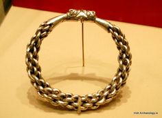 A silver Viking Age bracelet from Skaill in Orkney. It formed part of a large hoard which was hidden in around 960 AD