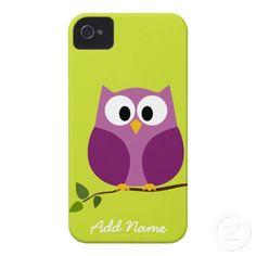 Cute Owl iphone 4 Cartoon iPhone 4 Cases