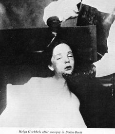Helga Goebbels, died at 12, she was poisoned by her parents along with her five siblings in Hitler's bunker on May 1, 1945 as the Soviet Army approached and the end of the Third Reich was at hand. Her parents, Joseph and Magda then killed themselves.