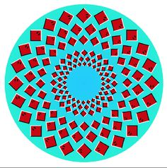 Optical Illusion - Rotating Rays