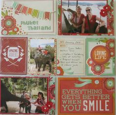 """Phuket"" Multi Pocket Page by Cathy McGrath. Kaisercraft Products Used: Spring Bloom Collection: Daffodil Blossom Spring Bloom Collectables Spring Bloom Paper Pad Multi Pocket Pages 2 Pearls Snow Flowers Poppy Kaisercard Weave Scarlet Scrapbook Blog, Pocket Scrapbooking, Scrapbook Page Layouts, Scrapbook Pages, Project Life Layouts, Life Page, When You Smile, Spring Blooms, Life Photo"