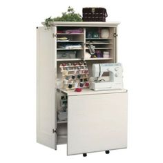 Sauder Harbor View Craft Armoire   Sewing Furniture At Hay Need To Find A  Diy For This!