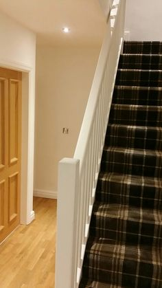 Tartan carpet in the hallway Basement Shelving, Basement Carpet, Basement, Basement Windows, Master Bedroom Design, Small Kitchenette, Window Parts, Basement Window Replacement, Basement Decor