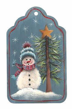 Snowman Tag/Ornament project from DecoArt